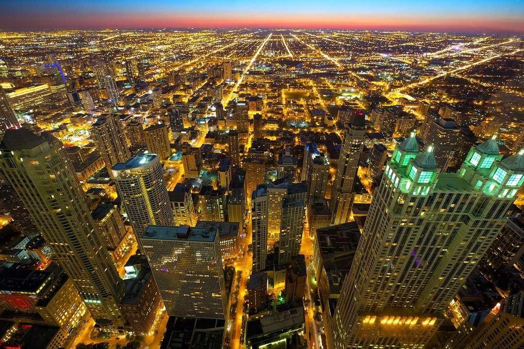 cahaya kota malam