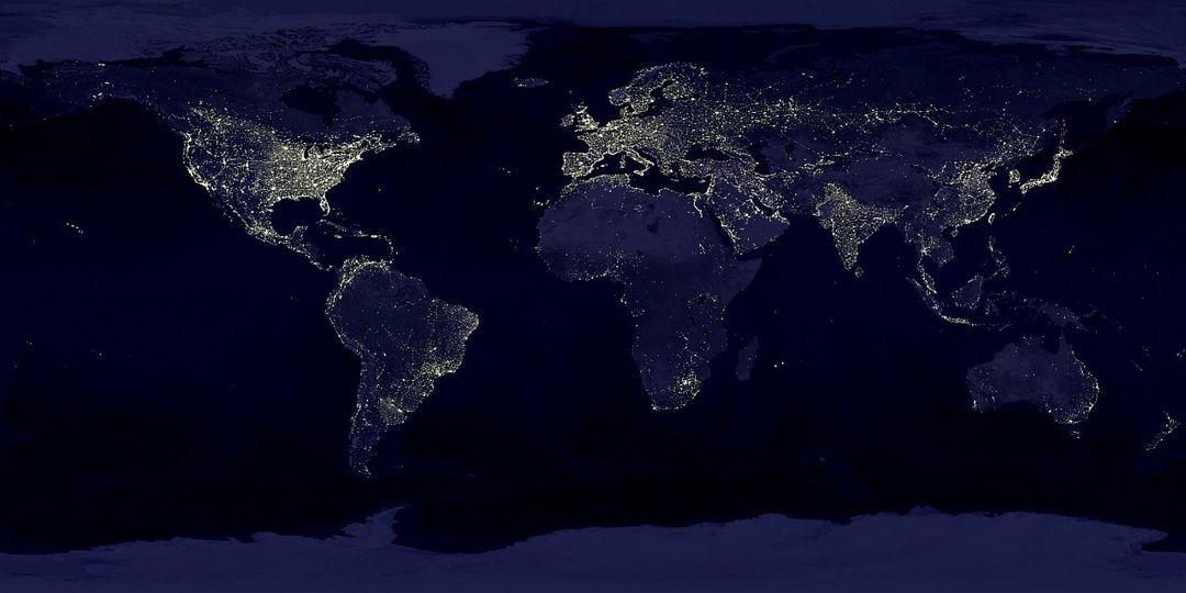 bumi malam hari