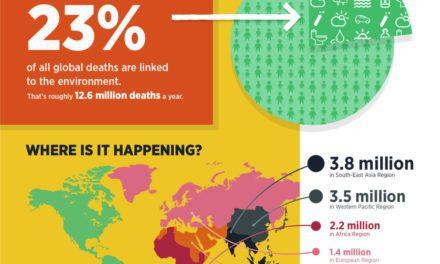Infografis – 23% Kematian Berkaitan Dengan Kondisi Lingkungan