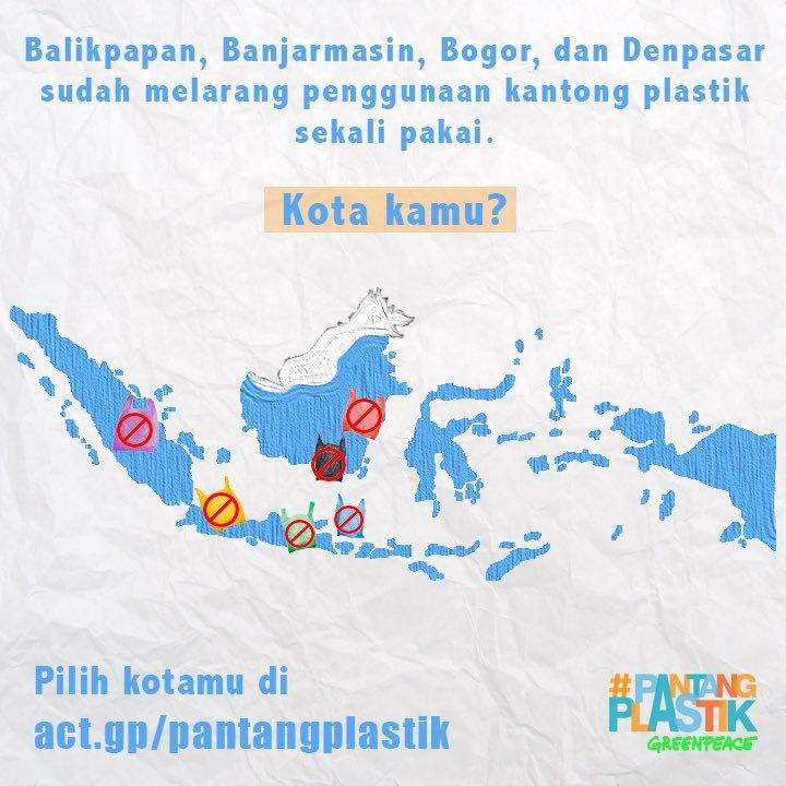 kota yang melarang plastik
