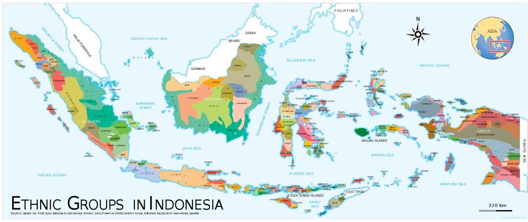 peta etnis indonesia