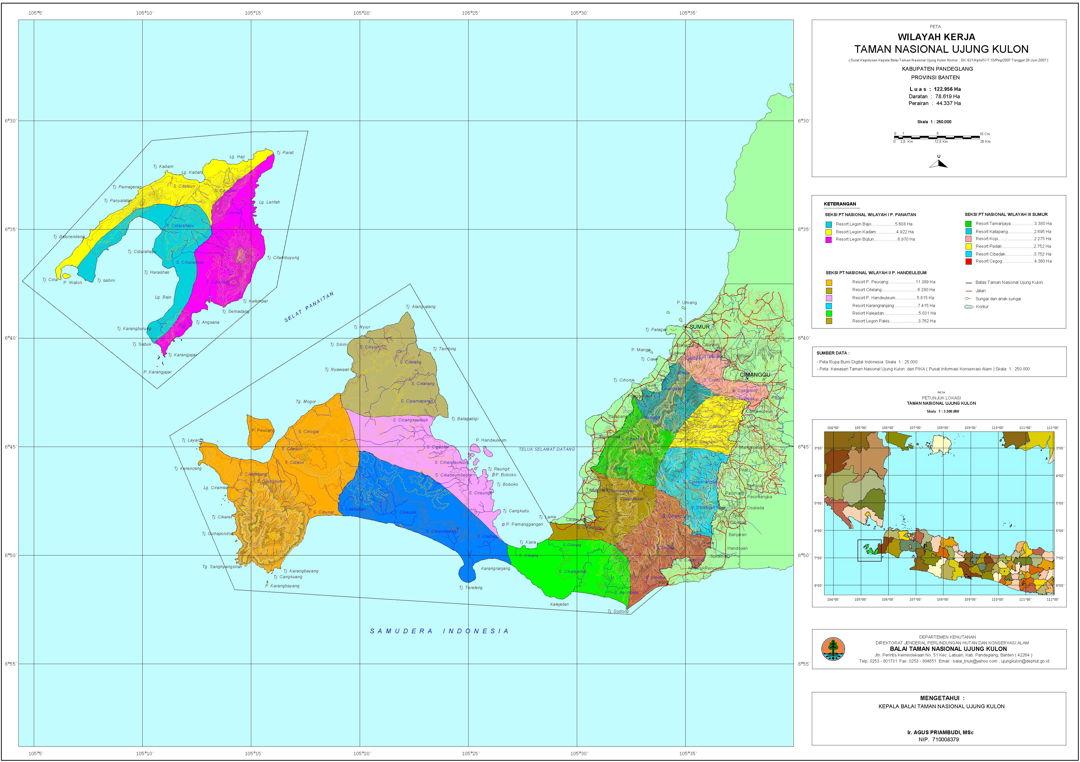 peta taman nasional ujung kulon