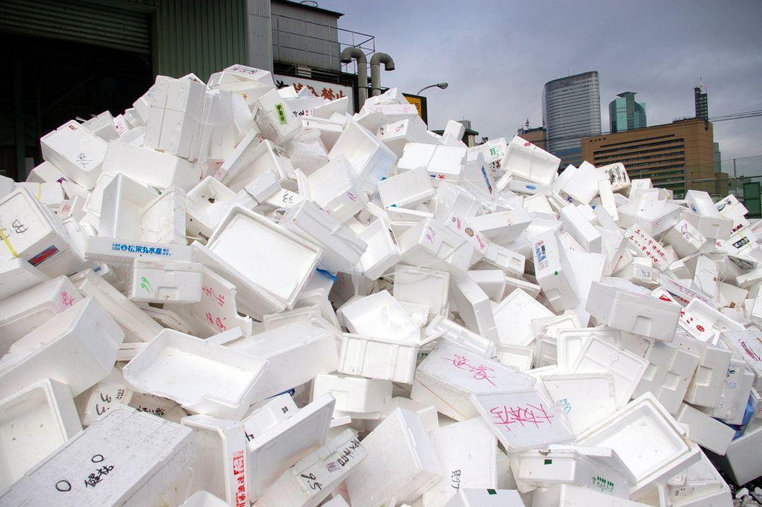 sampah styrofoam