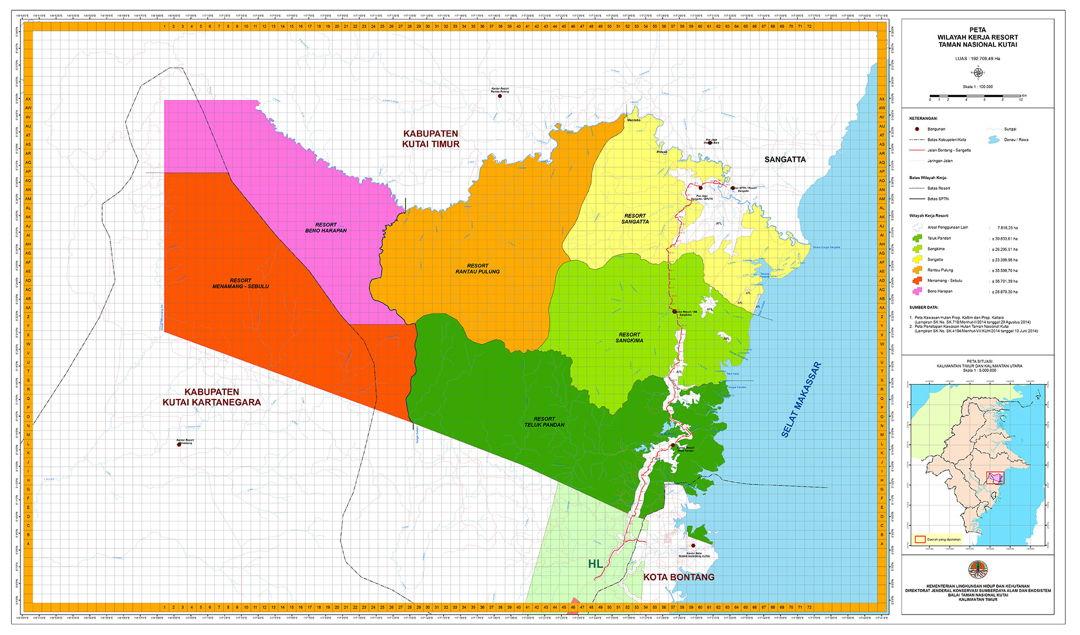 peta taman nasional kutai