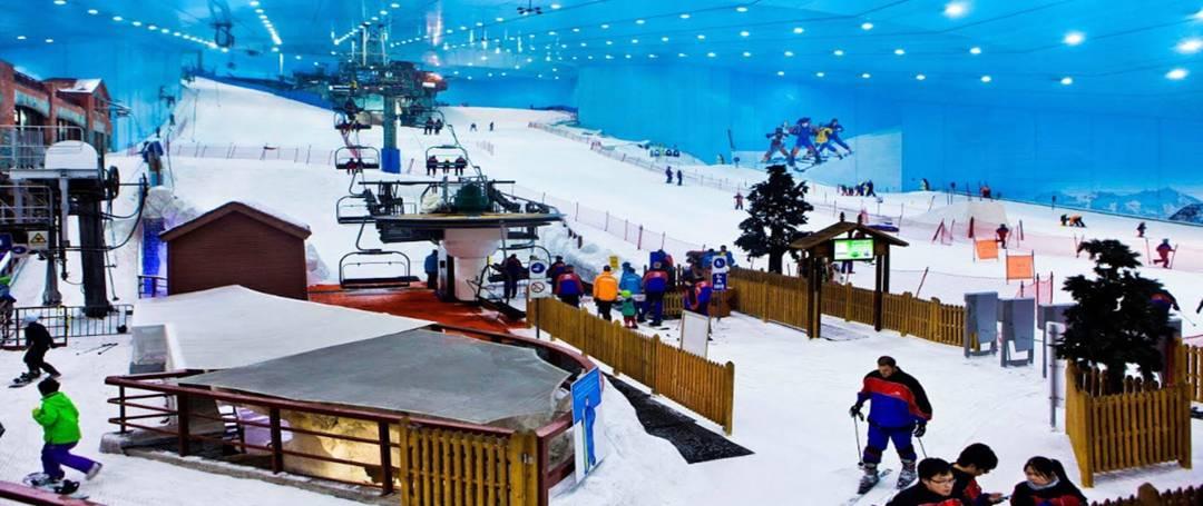 wisata salju buatan