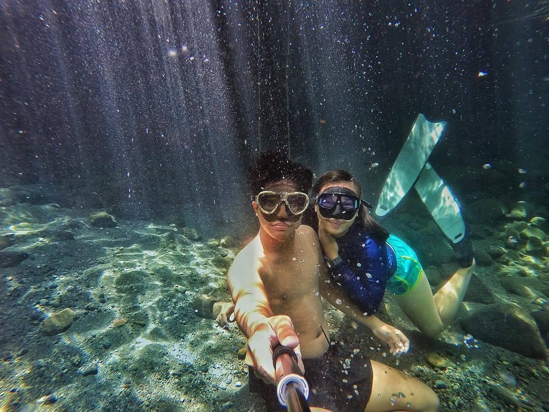 selfie di air