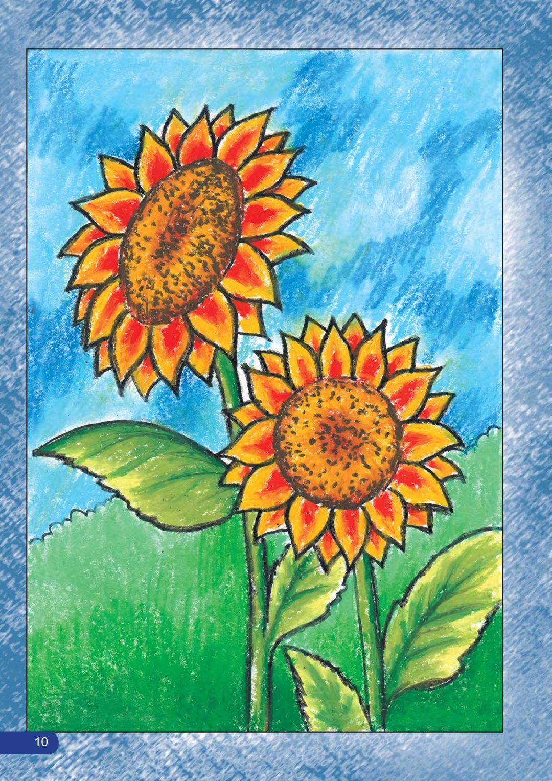 Cara Praktis Mewarnai Bunga Contoh Sketsa Gambar