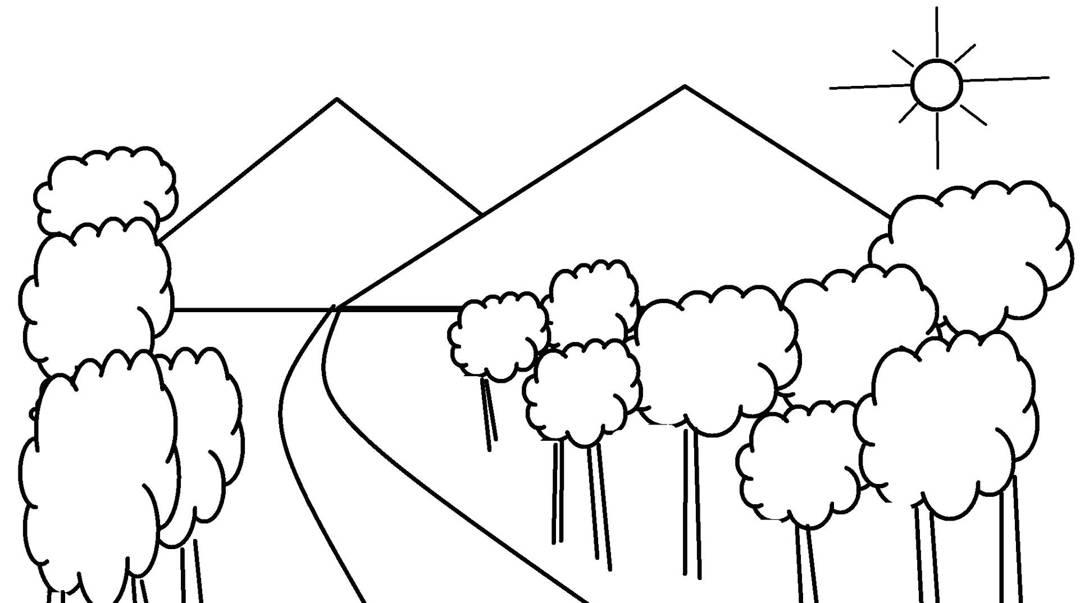 5 Cara Mudah Mewarnai Pemandangan Alam Kumpulan Gambar Sketsa